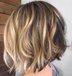 Blonde Bobs, Short Blonde, Blonde Hair, Dark Blonde, Short Wavy, Golden Blonde, Gray Hair, Balayage Blond, Caramel Balayage