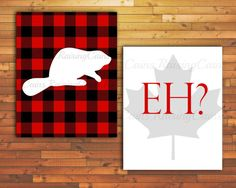 Canadian Wall Art Beaver Wall Art EH print by Raising3Cains