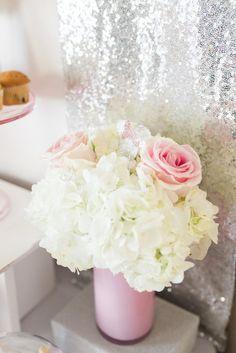 Floral Arrangement from an Elegant Minnie Mouse Boutique Birthday Party via Kara's Party Ideas! KarasPartyIdeas.com (26)