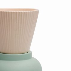Pale Yellow and Pale Green Cup.