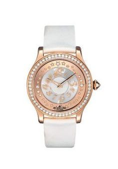 Jaeger Le-Coultre Master Twinkling Diamonds Watches. 18K pink gold case set with diamonds, diamond star setting dial, hand-winding calibre 960 movement, satin strap.