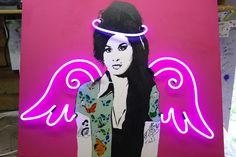 Amy Winehouse Neon by artist Darren West