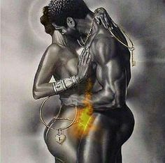 Wak is my favorite African American Artist. To me this picture says so much. Black love IS beautiful Black Love Art, My Black Is Beautiful, White Art, Beautiful Artwork, Romantic Artwork, Simply Beautiful, Beautiful Things, Beautiful People, African American Art
