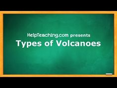 Types of Volcanoes Video Lesson - Introduce students to composite volcanoes, shield volcanoes, and cinder cones with this Earth Science video lesson.