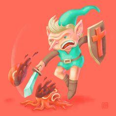 Legend of Zelda 30yr anniversary (digital drawing) | by killingclipart
