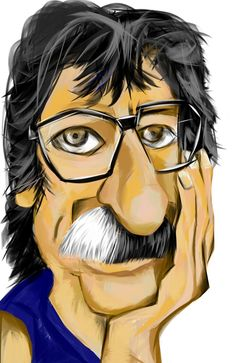 Cartoon Posters, Cartoon Art, Rock Argentino, Black And White Cartoon, Caricature Drawing, Rock Artists, Progressive Rock, Music Images, Famous Faces