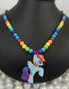 My Little Pony Friendship is Magic Necklace Rainbow by deastar, $20.00