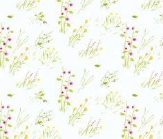 frog_meadow_cream fabric by heatherross on Spoonflower - custom fabric