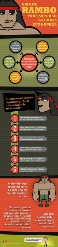 Guía de Rambo para superar la Crisis Económica Vía: www.egafutura.com #infografia #infographic