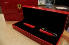 The perfect Father's Day gift for all car lovers! A limited edition Ferrari pen available at Creative Gifts For Boyfriend, Boyfriend Gifts, Fun Ideas, Ferrari, Vehicle, Great Gifts, Father, Lovers, Car