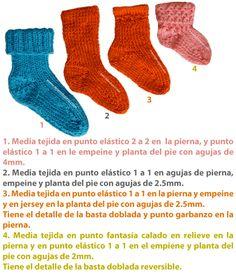 Medias tejidas con 2 agujas - Tejiendo Perú Baby Knitting, Slippers, Socks, Schmidt, Ideas Para, Diy Crafts, Babies, Fashion, Baby Tights