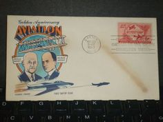 AVIATION FDC Postal History Cover 1953 FLUEGEL Cachet #C47 WRIGHT BROTHERS