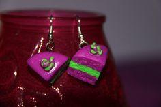 Handmade Polymer Clay Cake Earrings kawaii cookie by PurpleCatShop, €6.00