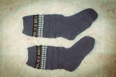 #DoctorWho #tardis #socks #DIY #knit Tardis, Doctor Who, Socks, Knitting, Diy, Tricot, Bricolage, Breien, Tenth Doctor