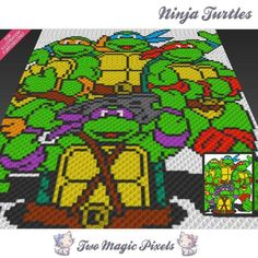 Ninja Turtles C2C crochet graph | Craftsy