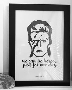 David Bowie • We can be heroes  www.papercandy.nl #davidbowie #bowie #heroes #digitalprint #print