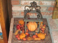 Fall Lantern and Tray