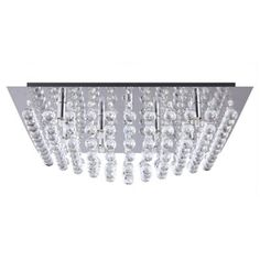 Litecraft Galaxy K9 Crystal Chrome Flush Ceiling Light- at Debenhams.com