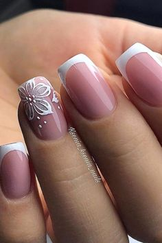 French Nails, French Manicure Nail Designs, Gel Nail Designs, Cute Nail Designs, Pink French Manicure, Gel Nail Art, Gel Nails, Acrylic Nails, Bridal Nails