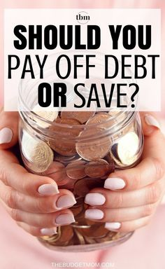 Should You Pay off Debt or Save? Here are three strategies to help you decide if you should pay off debt first or if you should start saving your money. Money Tips, Money Saving Tips, Managing Money, Money Hacks, Debt Snowball, Term Life, Frugal Living Tips, Frugal Tips, Savings Plan