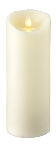 "Liown Flameless Candle: Vanilla Scented Moving Flame Candle with Timer (8"" Ivory)"