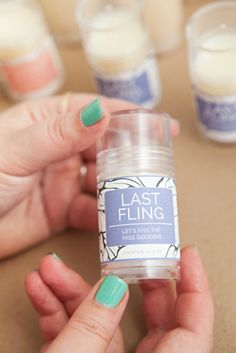 DIY Push-pop Lotion Bars, with free printable bachelorette party label!