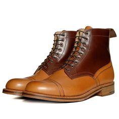 Grenson x Heritage Research Toe Cap Boot (Tan & Mahogany)