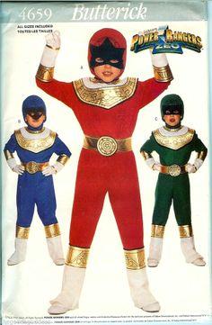 Go go Power Rangers! Butterick Pattern 4659 Power Ranger Red Blue Green Costume…