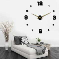 Mur horloge géante pas cher pendule murale décoration