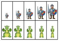 dragon and knight size ordering Fairy Tale Activities, Pre K Activities, Chateau Moyen Age, Mike The Knight, Castle Crafts, Christmas To Do List, Medieval Party, A Knight's Tale, Princess And The Pea