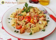 Pasta con salmone fresco e pomodorini