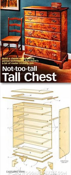 Tall Chest of Drawers Plans - Furniture Plans and Projects | http://WoodArchivist.com