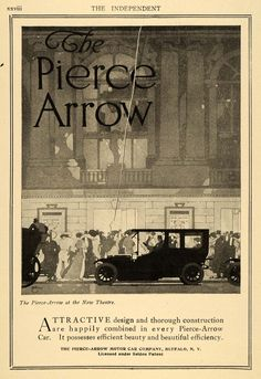 1910 Ad Pierce Arrow Motor Car Co Touring Automobile Original Tin4