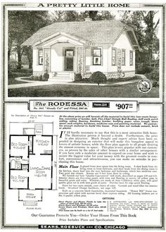 Sears Kit home from the 20's... check out the price!  This looks identical to the one my Grandparents bought from Sears. It is still standing.