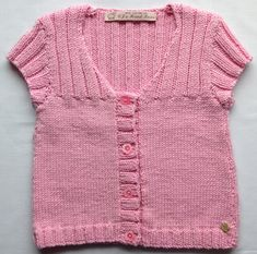 Spring Summer Girls Cardigan Sweater by CJsHandknits on Etsy, £32.00 Hand knitted in pink Baby Cashmere Merino Silk.
