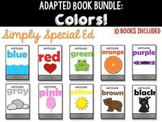 This bundle of 10 interactive color books is perfect for early learners. They require a matching component on each page to keep students engaged and interacting with their work. Perfect for special education, early childhood, ELL, homeschool, and speech therapy.  This book also works great for nonverbal learners or students with Autism and other disabilities. Simple pictures encourage vocabulary and communication. Velcro pieces allow them to interact with their work independently.