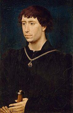 Carlo il temerario. 1460. Gemäldegalerie Berlin. Morto nel 1477 a Nancy