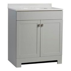 Style Selections Liesel Gray Bathroom Vanity with Cultured Marble Top (31-in x 19-in)