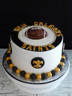 1000 Images About New Orleans Saints Cakes On Pinterest
