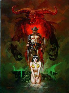 underground fantasy for your pleasure Dark Fantasy Art, Fantasy Artwork, Dark Art, Illustrations, Illustration Art, Robert E Howard, Conan The Barbarian, Sword And Sorcery, Science Fiction Art