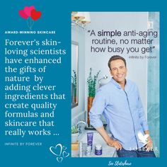 The Firming Serum in this Advanced Skincare Collection, Infinite by Forever, recently won Silver in the Pure Beauty Awards. That speaks for itself about Infinite, don't you think? Click the Slideshare link to discover the 4 simple steps to beautiful skin with Infinite. And as it comes with a 60-Day Money-Back Guarantee, everyone's happy! #loveyourself #naturalskincare