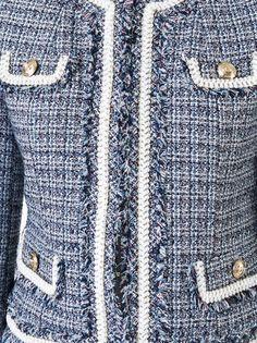 Loveless Jaqueta cropped de tweed