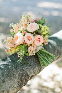 peach rose bouquet by belle–flower