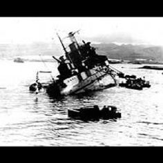 USS Utah Capsizing off Ford Island, during the attack on Pearl Harbor, 7 December after being torpedoed by Japanese aircraft . Photographed from USS Tangier which was moored astern of Utah. Pearl Harbor 1941, Pearl Harbor Hawaii, Pearl Harbor Attack, Naval History, Military History, Military Art, Utah, Remember Pearl Harbor, Us Battleships