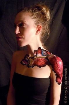 Danny Quirk body art Monique Oddities Obscura