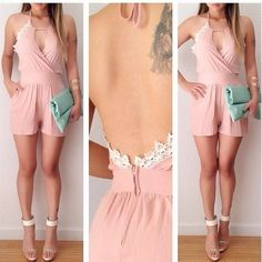 252925dfd724 Pink Backless Jumpsuits on Luulla
