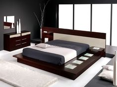 contemporary beds | Modern and luxury bed and cabinet
