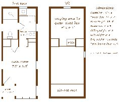 Enjoyable 8X24 5 Tiny House Floor Plan With Washer Dryer Closet And 2 Largest Home Design Picture Inspirations Pitcheantrous