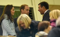 The Royal couple flew to Cardiff to watch the rugby union match between Wales and Australia, above