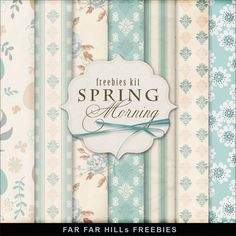 Freebies Paper Kit - Spring Morning